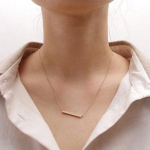 Jewelry - Dainty Gold Bar Necklace